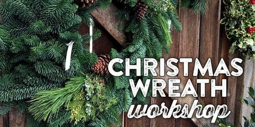 "Fresh Wreath Making Workshop - 16"" $50 or 22"" $75 (+tax)"