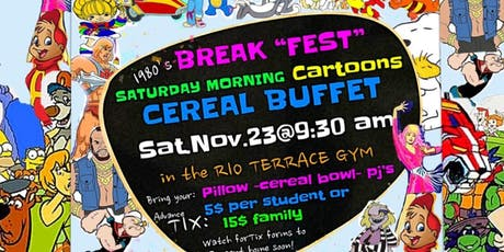 Saturday Morning Cartoons at Rio Terrace School tickets