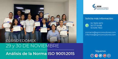 Análisis e Implementación de la Norma ISO 9001:2015 - EDOMEX entradas