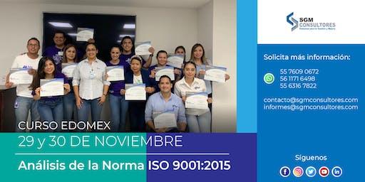 Análisis e Implementación de la Norma ISO 9001:2015 - EDOMEX