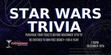 Star Wars Trivia - Dec 10, 7:30pm - CBH Grasslands tickets