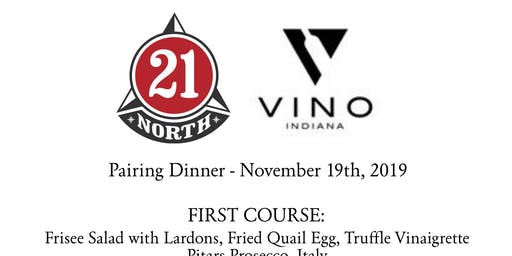 21 North & Vino Indiana Wine Dinner