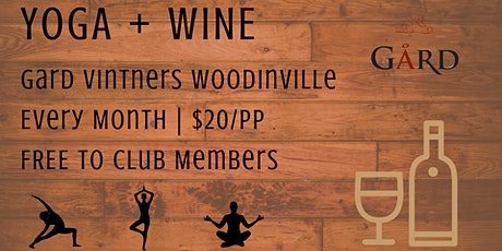 Yoga + Wine at Gard Vintners  tickets