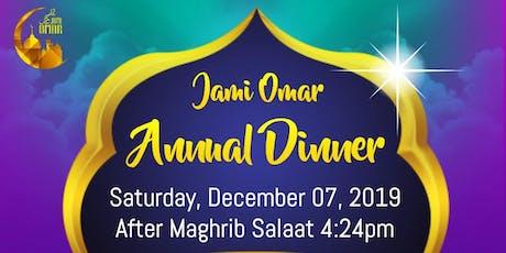 Jami Omar Annual Dinner tickets