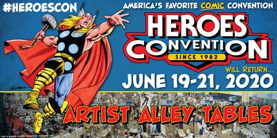 HEROES CONVENTION 2020 :: ARTIST ALLEY TABLE