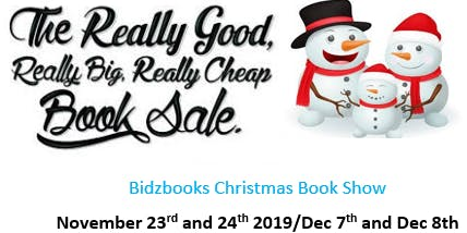 Bidzbooks Non-Profit Christmas Book Show ($1, $2 and $3 New Books)