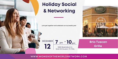 Women of the World Network Houston, TX: Holiday Social and Get Together tickets