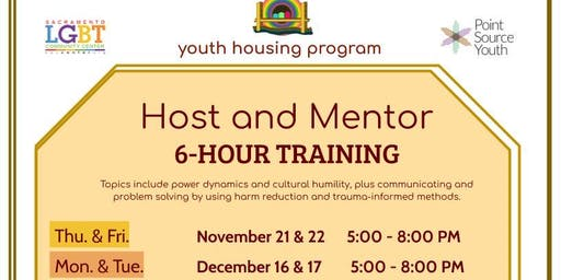 Host Home Training Sessions