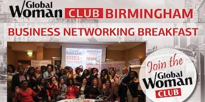 GLOBAL WOMAN CLUB BIRMINGHAM: BUSINESS NETWORKING BREAKFAST - JANUARY