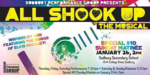 All Shook Up - Special $10 Sunday Matinee