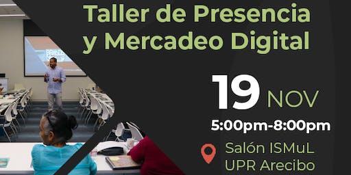 Taller de Presencia y Mercadeo Digital en Arecibo
