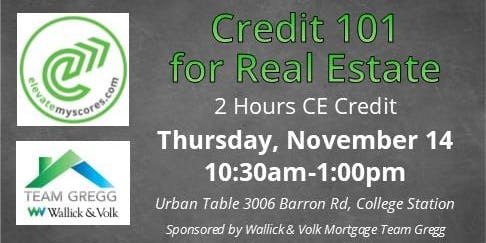 Credit 101 for Real Estate - 2 hour CE
