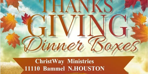 THANKSGIVING  DINNER  BOX  GIVEAWAY