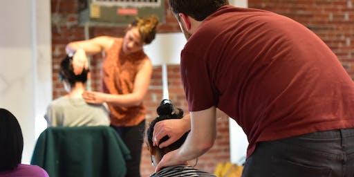 Partner Massage Lesson and Acupuncture Sound Meditation