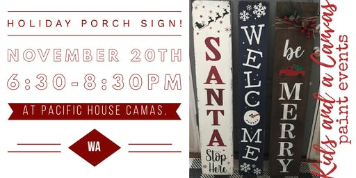 Holiday Porch Sign Paint and Sip (Nov. 20)