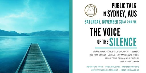 """Public Talk in Sydney  - """"The Voice of the Silence"""" - The Awakening of a New Consciousness"""