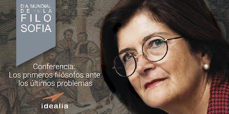 LOS PRIMEROS FILÓSOFOS ANTE LOS ULTIMOS PROBLEMAS: Día Mundial de la Filosofía. Maria Dolores Fernandez-Figares entradas