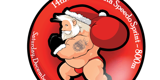 Santa Speedo Sprint -- 14!