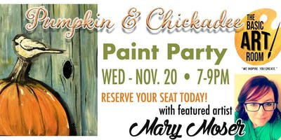 Pumpkin & Chickadee Paint Party