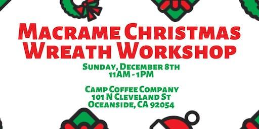 Macrame Christmas Wreath Workshop