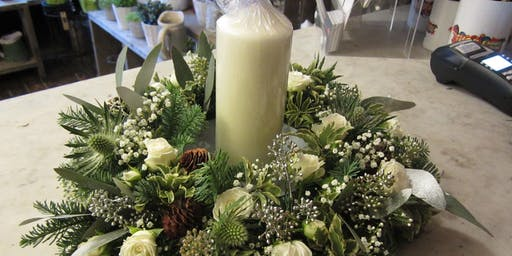 Christmas Wreath Table Centerpiece Workshop