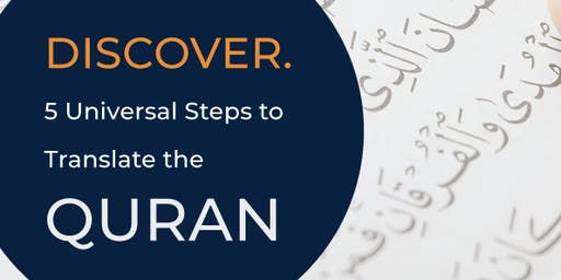 Sydney Discover 5 Universal Steps to Translate the Quran (Minto)
