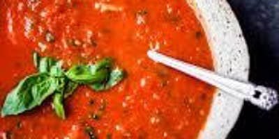 Tomato Basil Soup w/ Infused Olive Oil