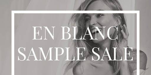 En Blanc Bridal Gown Sample Sale