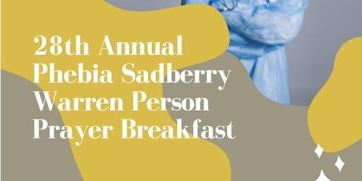 28th Annual Phebia Sadberry Warren-Person Prayer Breakfast