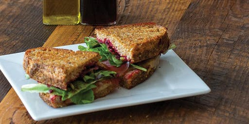 Cranberry- Herb Grilled Cheese w/ Wild Rosemary Olive oil & Cranberry Spice Balsamic