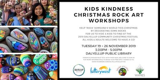 Kids Kindness Christmas Rock Art Workshops