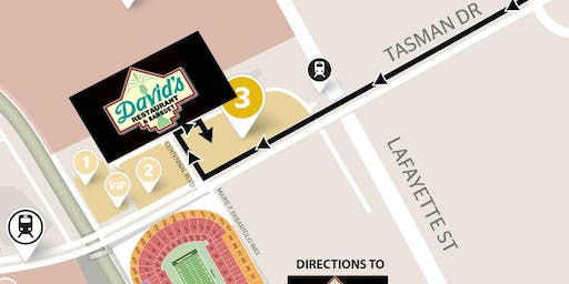 DAVID'S GAMEDAY (Includes Parking) 49ers VS Cardinals -NOV 17th- YELLOW LOT