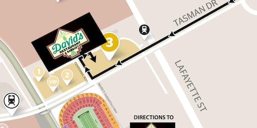 DAVID'S GAMEDAY (Includes Parking) 49ers VS Packers -NOV 24th- YELLOW LOT