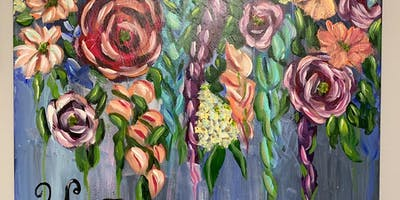 Flowy Floral Canvas Painting