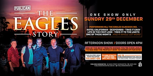 The Eagles Story LIVE at Publican, Mornington!