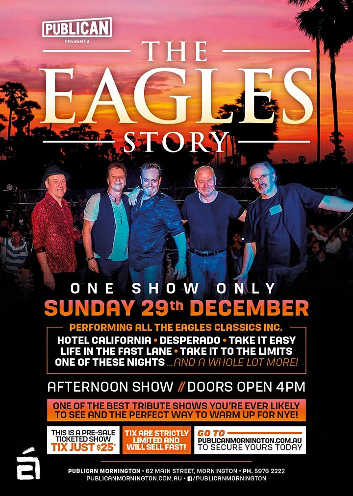 The Eagles Story LIVE at Publican, Mornington! image