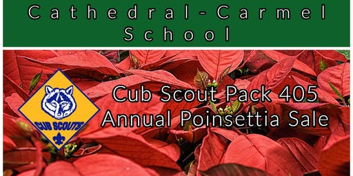 Cathedral-Carmel School Cub Scout Pack 405 Poinsettia Sale