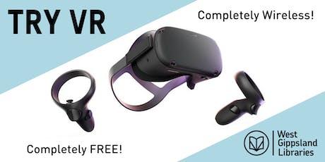 Wireless Virtual Reality at Warragul Library tickets