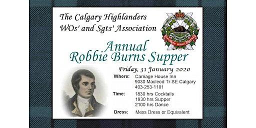 2020 Calgary Highlanders WOs' and Sgts' Association Robbie Burns Dinner