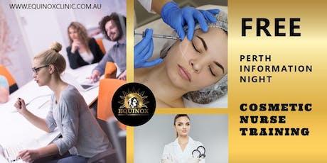 FREE Information Night 27 November     Cosmetic Nurse Training tickets
