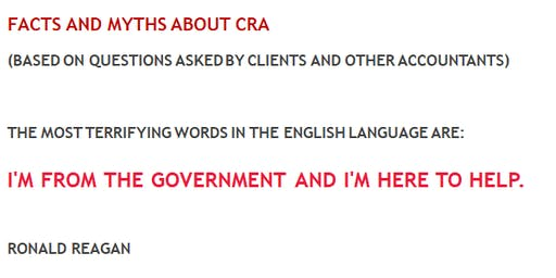 It is the best and worst of times - The facts & myths about CRA
