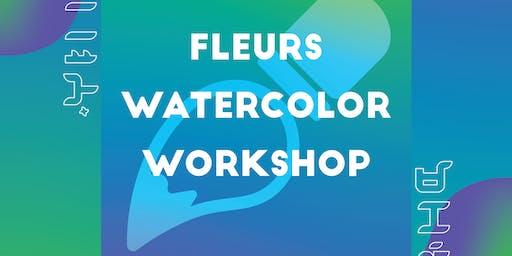Makati Creative Academy FLEURS WATERCOLOR WORKSHOP