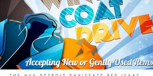 Hug Detroit Day Coat & Blanket Drive Donations