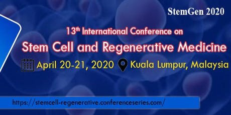 13th International Conference on Stem Cell and Regenerative Medicine tickets
