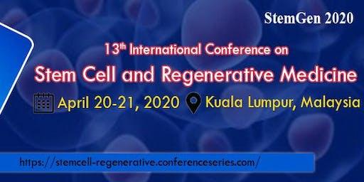13th International Conference on Stem Cell and Regenerative Medicine