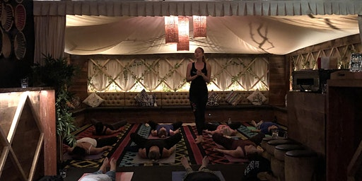 Yoga, wine and a 3-course Vegetarian Dinner