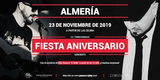 Fiesta aniversario con Kiko Romero El Grillo en Pause&Play Torrecárdenas