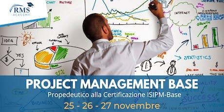 Corso di formazione Project Management Base biglietti