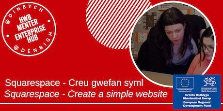 Squarespace - Creu gwefan syml / Create a simple website tickets