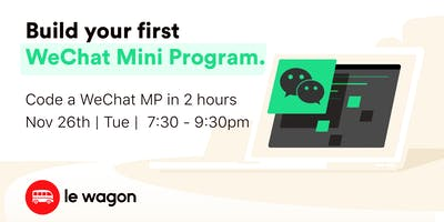 Build your first WeChat Mini Program in 2h